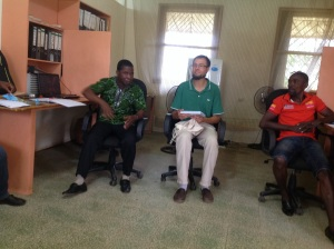 David B, JPC- Gbarnga, new CIvil Peace Advisor Arrivei in Gbarnga